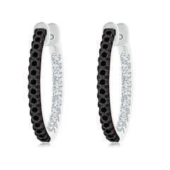 Black Diamond Earrings Enhanced