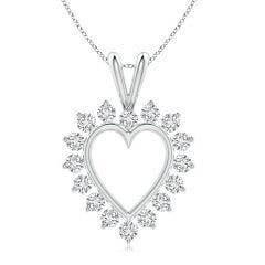 Diamond Open Heart V-Bale Pendant