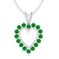 Emerald Open Heart V-Bale Pendant