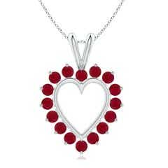 Ruby Open Heart V-Bale Pendant