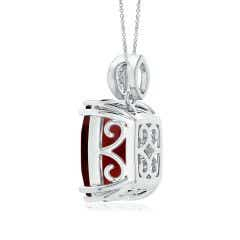 Toggle GIA Certified Garnet Pendant with Leaf-Shaped Bale - 8.9 CT TW