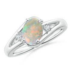Opal Engagement Rings Buy Natural Opal Engagement Rings At Angara