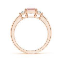 Toggle Morganite and Diamond Three Stone Ring
