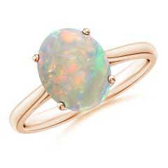 Oval Solitaire Opal Cocktail Ring