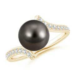 Tahitian Cultured Pearl Bypass Ring