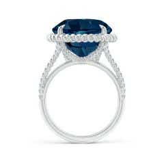 Toggle GIA Certified London Blue Topaz Twist Rope Split Shank Ring