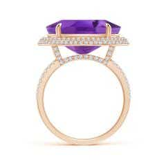 Toggle Horizontal GIA Certified Oval Amethyst Cocktail Ring