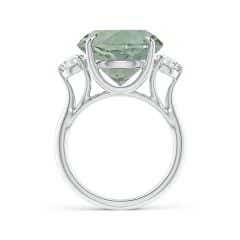 Toggle Classic GIA Certified Round Green Amethyst (Prasiolite) Three Stone Ring
