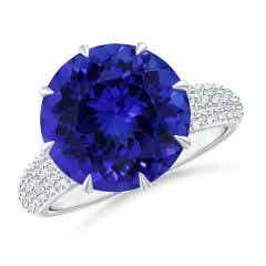 Angara GIA Certified Oval Tanzanite Cocktail Ring with Diamond Halo jgZodhJS5
