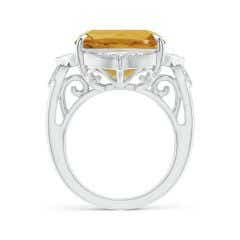 Toggle Art Deco Style GIA Certified Citrine Ring with Leaf Motifs
