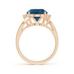 Toggle GIA Certified London Blue Topaz Bypass Ring with Diamonds