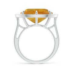 Toggle Horizontal GIA Certified Oval Citrine Ring with Diamond Halo