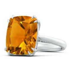 Vintage Style Double Claw-Set GIA Certified Citrine Ring - 9.1 CT TW