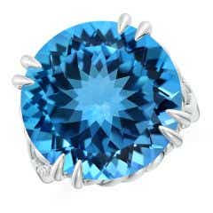 Toggle GIA Certified Swiss Blue Topaz Crossover Cocktail Ring