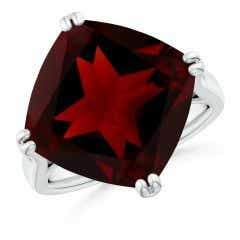 GIA Certified Cushion Garnet Solitaire Cocktail Ring - 12.4 CT TW