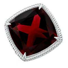 Toggle Classic GIA Certified Cushion Garnet Twist Cocktail Ring