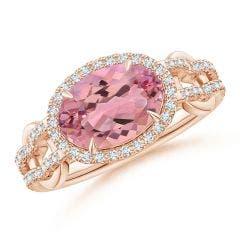 GIA Certified Pink Morganite Interlocked Split Shank Ring - 2.25 CT TW