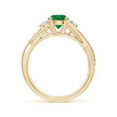 Toggle Nature Inspired Emerald & Diamond Twisted Vine Ring