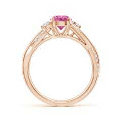 Toggle Nature Inspired Pink Sapphire & Diamond Twisted Vine Ring