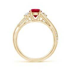 Toggle Nature Inspired Ruby & Diamond Twisted Vine Ring