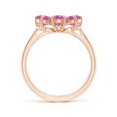 Toggle Nature Inspired Pink Sapphire & Diamond Flower Ring