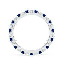 Toggle Shared Prong Sapphire and Diamond Eternity Band