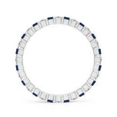 Toggle Shared Prong Square Sapphire and Diamond Eternity Band