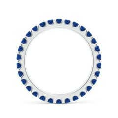 Toggle Shared Prong Set Eternity Sapphire Wedding Band