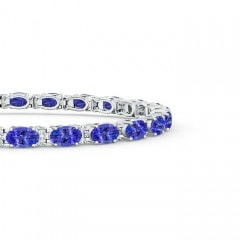 Toggle Classic Oval Tanzanite and Diamond Tennis Bracelet
