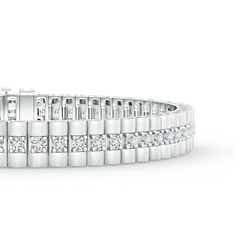 Toggle Prong-Set Diamond Link Bracelet