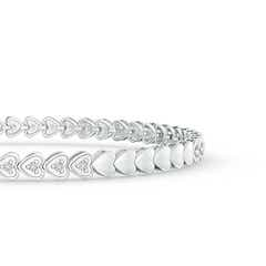 Toggle Diamond Tennis Bracelet with Heart-Shaped Motifs