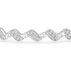 Toggle Classic San Marco Wave Link Diamond Bracelet
