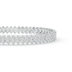 Toggle Diamond Encrusted Chevron Bracelet
