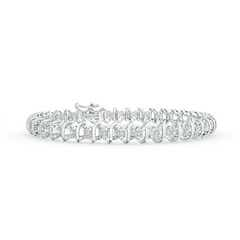Slanted Spiral Illusion Diamond Tennis Bracelet
