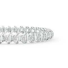 Toggle Spiral Illusion Diamond Tennis Bracelet
