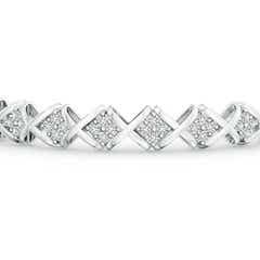 Toggle Diamond Floral Cluster 'XO' Bracelet