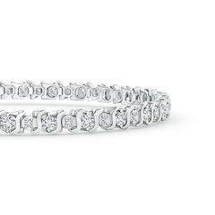 Toggle S Curl Diamond Tennis Bracelet