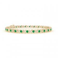Angara 3mm Ruby Scooped Link Tennis Bracelet in White Gold UITQAsQ