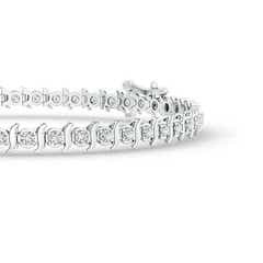 Toggle S Curl Block Harmony Diamond Tennis Bracelet