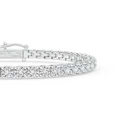Toggle Diamond Eternity Tennis Bracelet