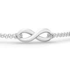 Infinity Knot Bracelet with Chain