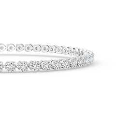 Toggle Round Diamond Link Tennis Bracelet
