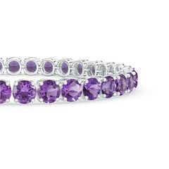 Toggle Classic Amethyst Linear Tennis Bracelet