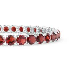 Toggle Classic Garnet Linear Tennis Bracelet
