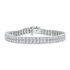 10.05 Carats Double Row Diamond Tennis Bracelet