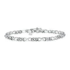 Diamond Heart Link Bracelet with Infinity Metal