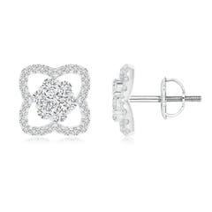 Angara Marquise Diamond Clover Halo Stud Earrings tsvUq