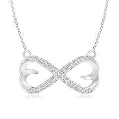 Diamond Sideways Infinity Heart Necklace