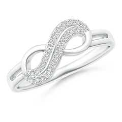 Twin-Row Diamond Infinity Swirl Ring