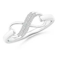 Twin-Row Diamond Swirl Infinity Link Ring